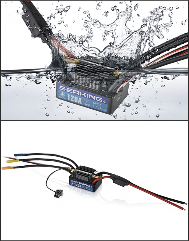 Seaking-120A-V3 Brushless ESC for Boat (Version 3)