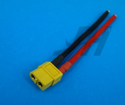 Female XT60 with 12AWG Silicone Wire