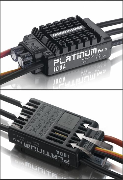 HobbyWing Platinum-100A-V3 Brushless ESC