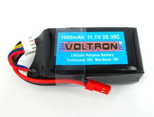 Voltron Li-Polymer Battery 1000mAh/35C 11.1V 3Cells