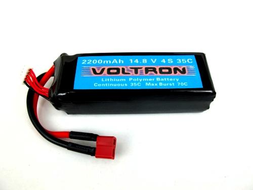 Voltron Li-Polymer Battery 2200mAh/14.8V 35C 4cells