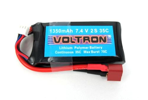 Voltron Li-Polymer Battery 1350mAh/35C 7.4V 2Cells