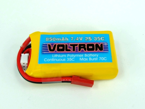 Voltron Li-Polymer Battery 850mAh/35C 7.4V 2Cells