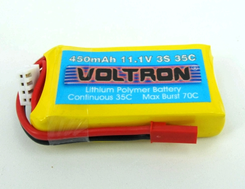 Voltron Li-Polymer Battery 500mAh/35C 11.1V 3Cells
