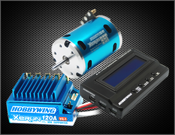 XERUN Combo X4A (120A+6.5T 5200KV Motor+LCD Card) Sensored BL System for 1/10 Car