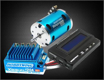 XERUN Combo X5A (120A+8.5T 4000KV Motor+LCD Card) Sensored BL System for 1/10 Car