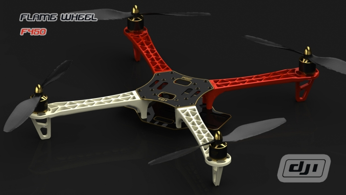 DJI Flame Wheel 450 Elegant Multi-Rotor (Air Frame Only)