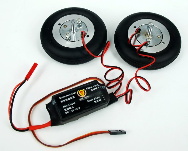 E-Magnetic brake wheel 2x75mm+Controller
