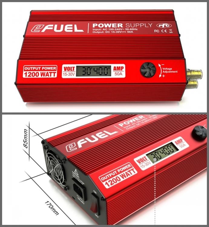 EFUEL 1200W/50A Power Supply Heavy Duty