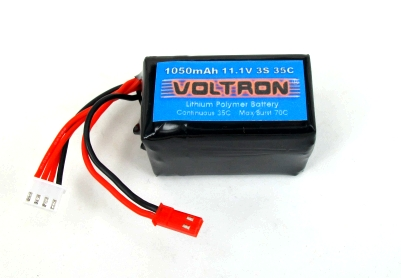 Voltron Li-Polymer Battery 1050mAh/35C 11.1V 3Cells