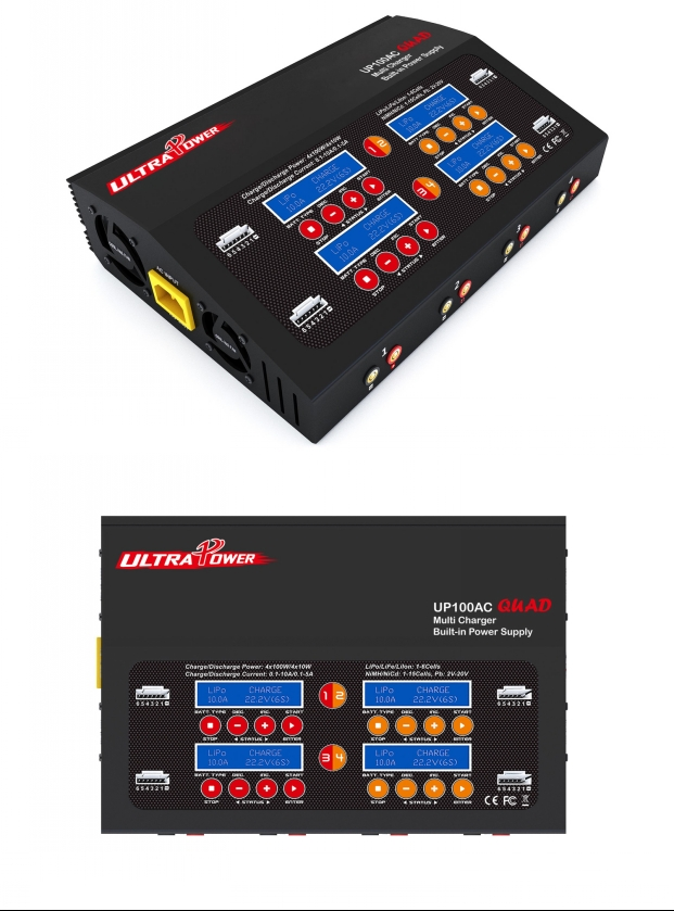 Ultra Power UP100AC Quad Multi Balance Charger 4x100W (AC/DC)